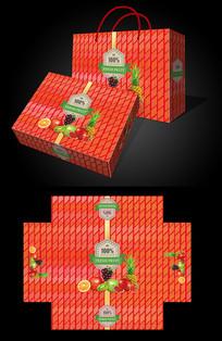 红色经典水果包装设计