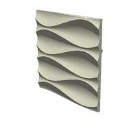 弧线石膏墙面铺装
