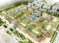 绿色生态建筑鸟瞰图 JPG