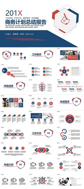 商务计划总结报告PPT模板