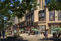 现代商业街沿街效果图 JPG