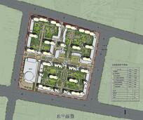 小区建筑规划总平面图