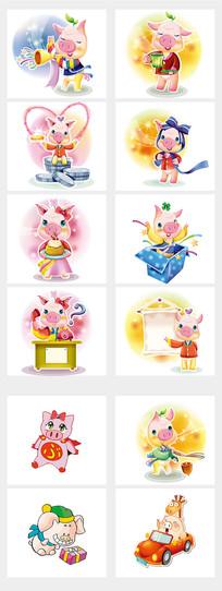 猪猪宝宝猪年元素