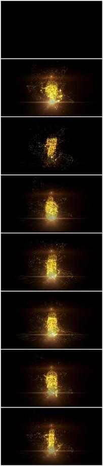 10秒金色粒子文字倒计时视频