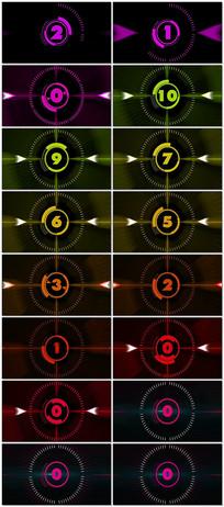 4k五彩图形动画十秒倒计时 mp4