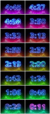 5分钟霓虹灯管电流数字倒计时