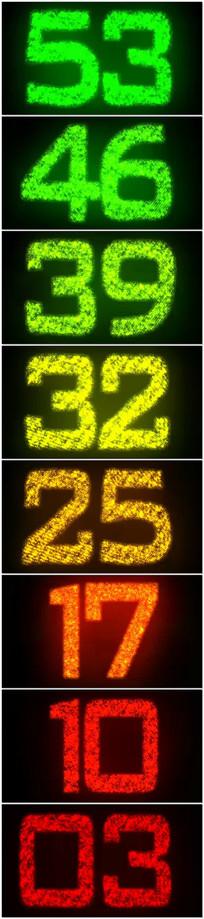 60秒粒子数字倒计时视频 mp4