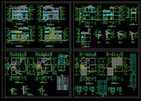 CAD农村三层别墅设计