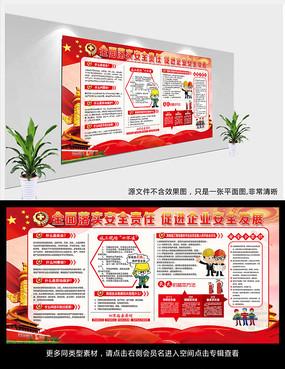安全生产月活动展板宣传栏