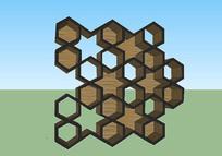 创意造型木质书架