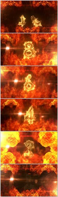 大气震撼火焰10秒倒计时视频 avi