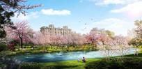 公园河流环境效果图 JPG