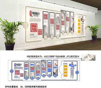 古典企业走廊中式文化墙