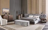 灰色元素欧式卧室意向