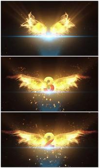 金色翅膀倒计时婚宴婚庆LED