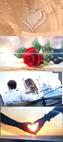 浪漫婚礼转场动画AE模板