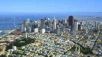 美国加州旧金山市区实拍视频