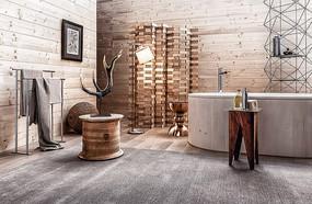 木头元素木头浴缸卫生间