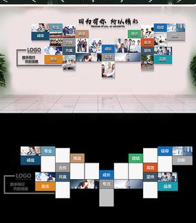 企业文化墙展厅照片墙员工风采图片