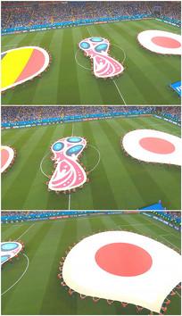 日本对德国国旗飘扬展开视频