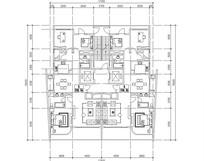 三室两厅两卫住宅平面布局