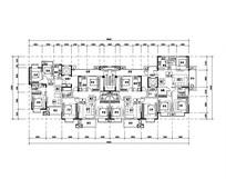 三室两厅两卫住宅平面图