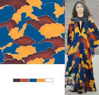 矢量云朵潮流裙子印花图案