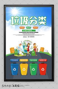 文明城市垃圾分类海报设计