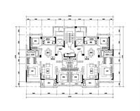 现代三室两厅两卫户型图