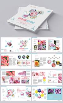 鲜花店宣传册设计 AI