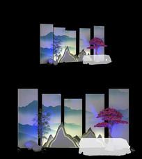新中式舞台背景马头墙