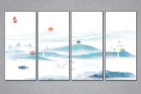 意境水墨山水装饰画