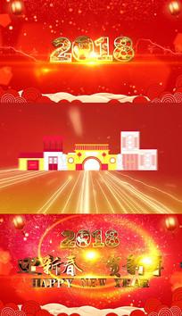 中国风春节节日片头ae模板