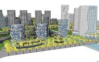 住宅区景观模型