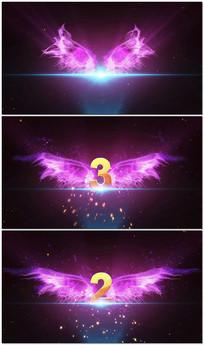 紫色翅膀倒计时婚宴婚庆LED
