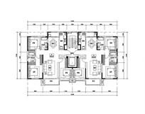 120平米三室两厅两卫平面图