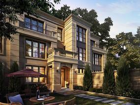别墅建筑透视效果图