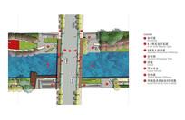 滨河亲水公园彩色平面图