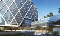 城市第二医院景观效果图