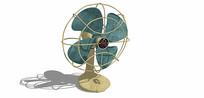 复古电风扇摆件SU模型
