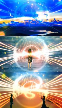 歌曲心在跳情在烧舞台背景视频