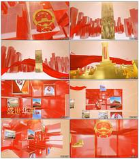 国庆节红色党政晚会宣传模板