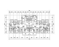 六室两厅三卫住宅平面图