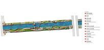 某河道公园彩色平面布置图