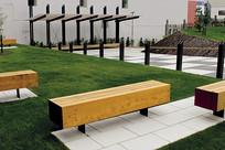 木质公共坐凳 JPG