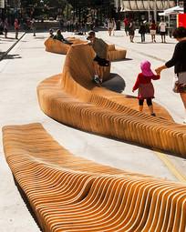 木质广场公共座椅 JPG