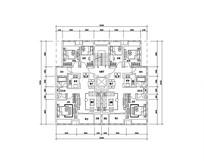 三室两厅一卫小户型平面