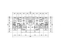 三室三厅两卫住宅平面图