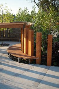 庭院木质简约坐凳 JPG