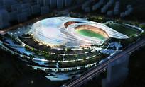体育中心夜景鸟瞰图 JPG
